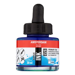 Amsterdam Acrylic Ink Bottle 30 ml Primary Cyan 572