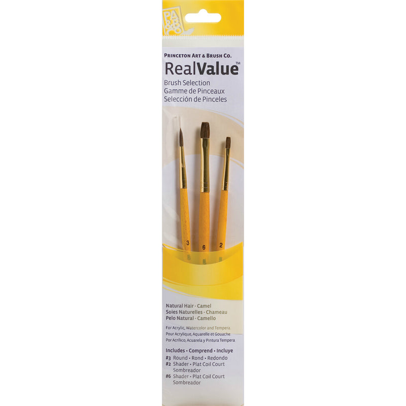 Synthetic Set of 3 Brushes