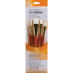 Synthetic-White Taklon Set of 5 Brushes