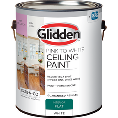 Glidden Ceiling Paint - Grab-N-Go - Pink to White