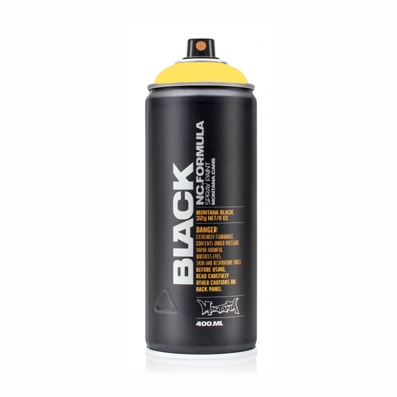 Montana BLACK High-Pressure Cans Spray Color, 400ml Cans, Easter Yellow
