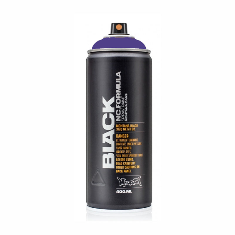 Montana BLACK High-Pressure Cans Spray Color, 400ml Cans, Wizard