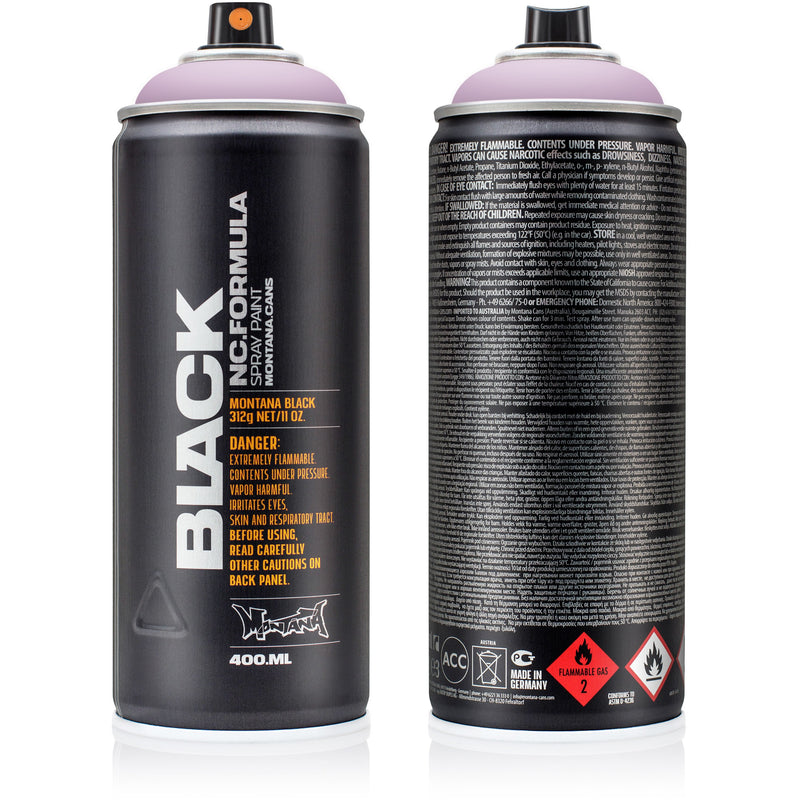 Montana BLACK High-Pressure Cans Spray Color, 400ml Cans, Bubble Bath