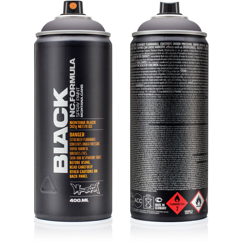 Montana BLACK High-Pressure Cans Spray Color, 400ml Cans, Nostradamus
