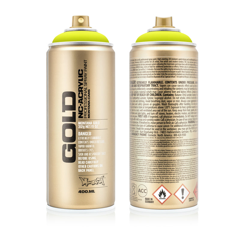 Montana GOLD Spray Color, Flash Yellow - 400ml Spray Can