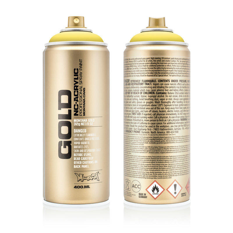 Montana GOLD Spray Color, Easter Yellow - 400ml Spray Can