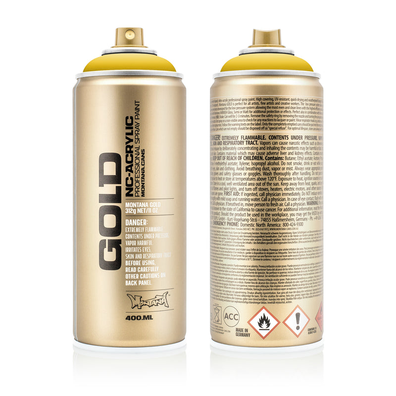 Montana GOLD Spray Color, Banana - 400ml Spray Can