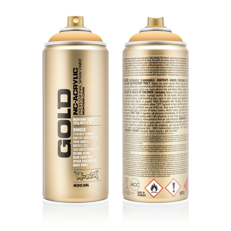Montana GOLD Spray Color, Creme Orange - 400ml Spray Can