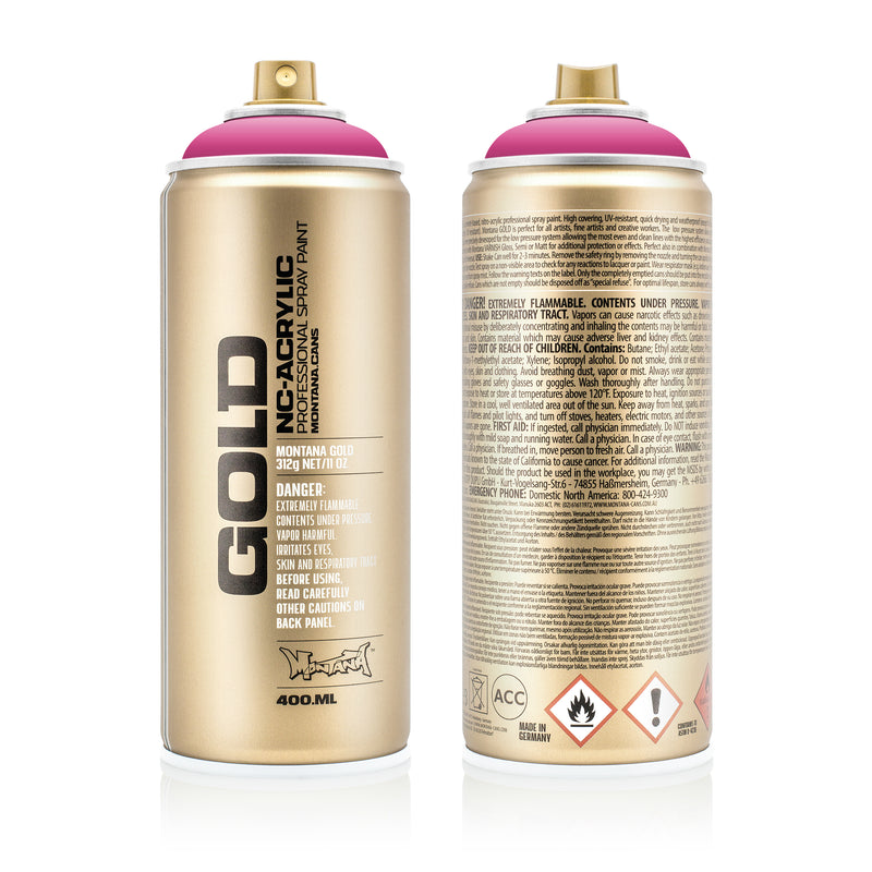 Montana GOLD Spray Color, Pink Pink - 400ml Spray Can