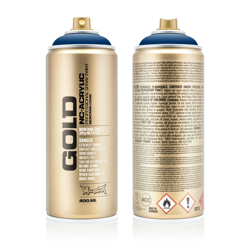 Montana GOLD Spray Color, Shock Blue Dark - 400ml Spray Can