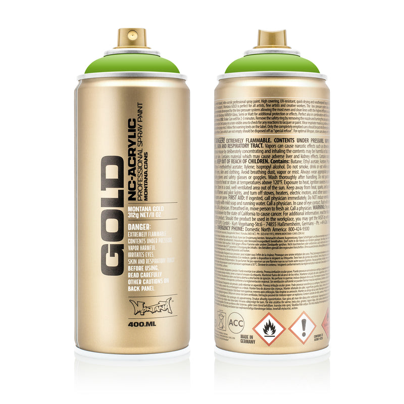Montana GOLD Spray Color, Shock Green Light - 400ml Spray Can