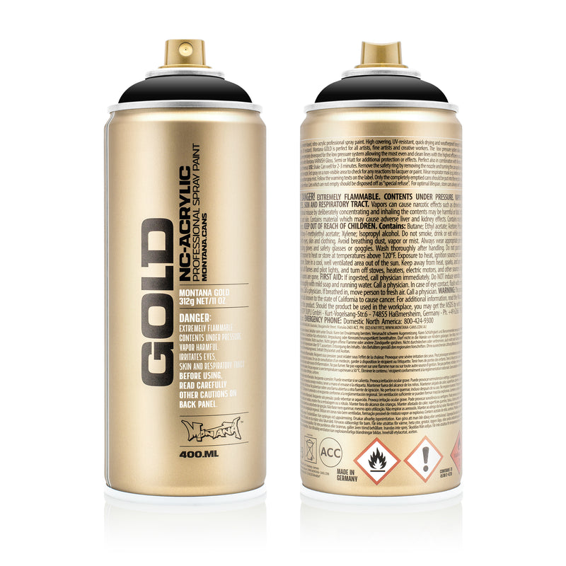 Montana GOLD Spray Color, Shock Black - 400ml Spray Can