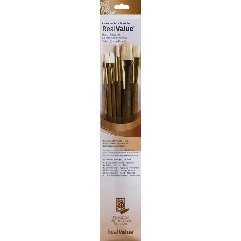 Natural/Synthetic – Set of 6 Brushes