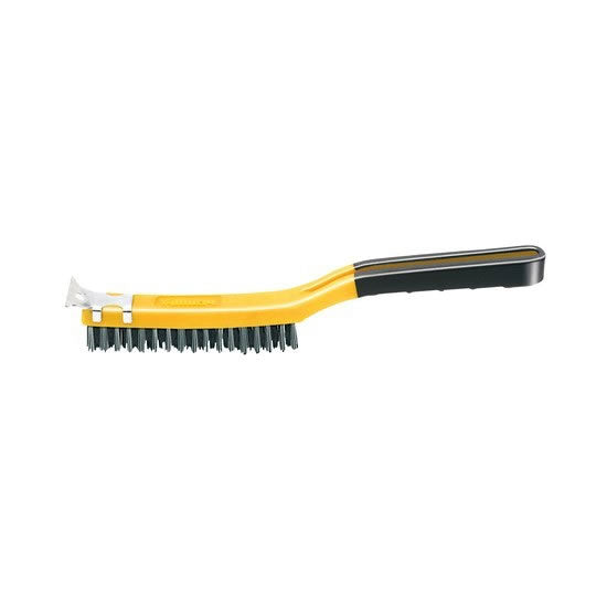3 x 19 Soft Grip Stainless Wire Brush w/Scraper, 1/ card – SB319/SS