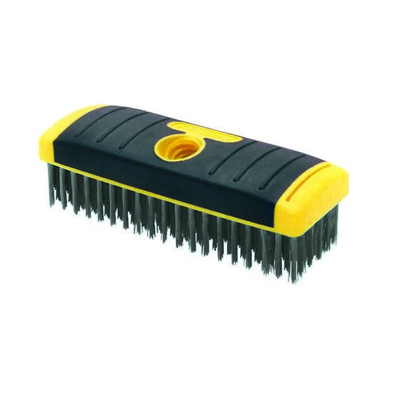 6 x 19 Soft Grip Carbon Steel Wire Brush – Block Brush, 1/cd. – SB619