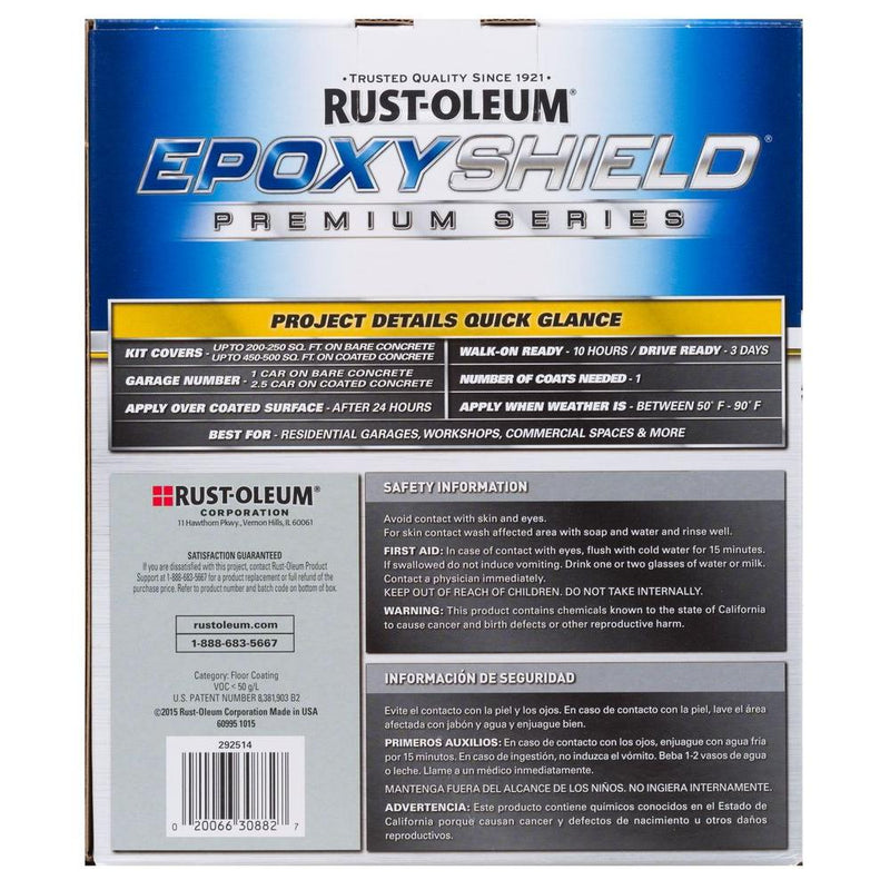 Rust-Oleum EpoxyShield Clear High Gloss 2-Part Solvent-Based Epoxy Premium Floor Coating Kit