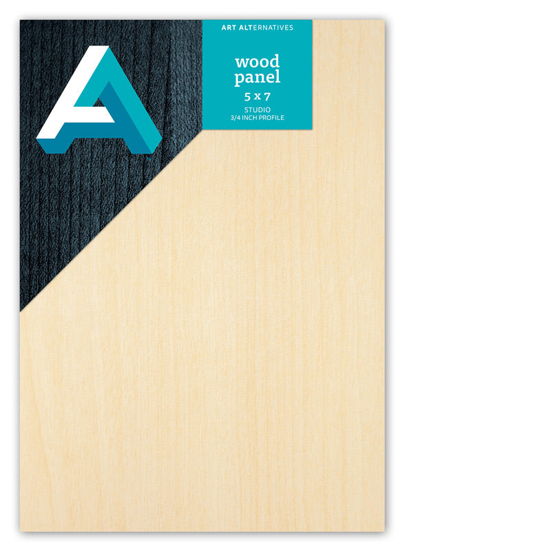 "Art Alternatives Wood Panels - Cradled, Studio Panels 3/4"" Profile, 5"" X 7"""