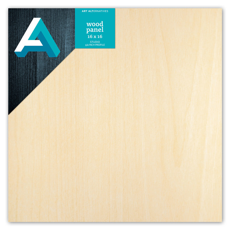 "Art Alternatives Wood Panels - Cradled, Studio Panels 3/4"" Profile, 16"" X 16"""