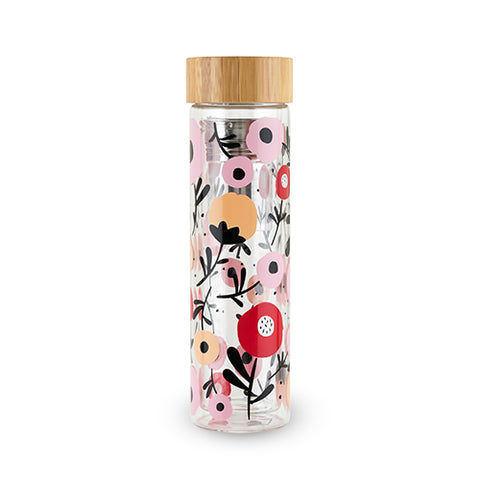 Posy Glass Infused Tea Tumbler