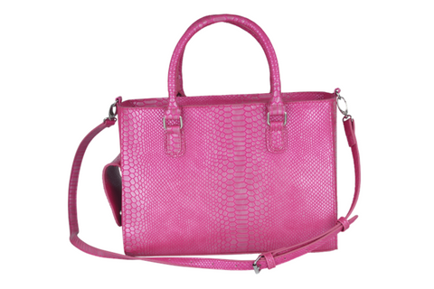 Pink Reptilian Beverage Purse