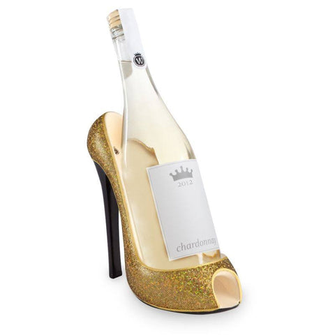 Gold Glitter Wine Bottle Holder