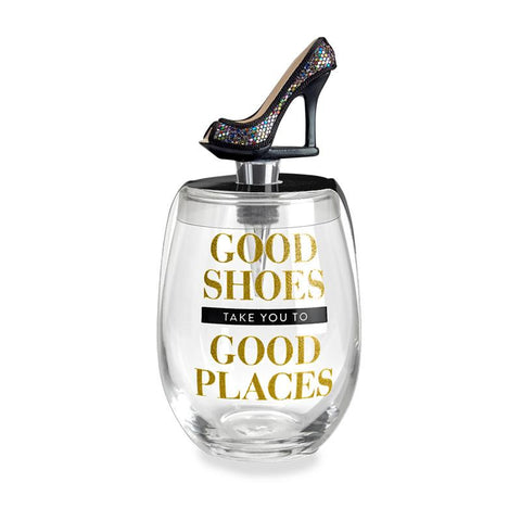 Good Places Stemless Wine Glass