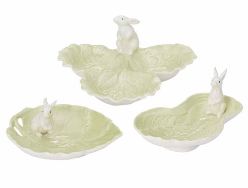Lettuce & Bunny Serving Dishes (Set of 3)