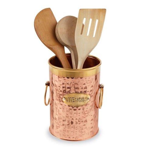 Copper & Brass Utensil Caddy