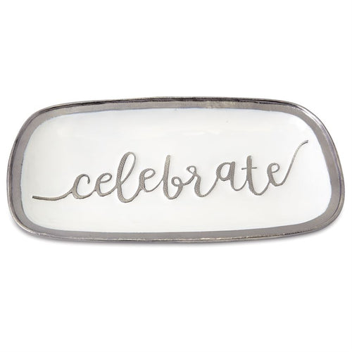 Metal & Enamel Celebrate Serving Platter