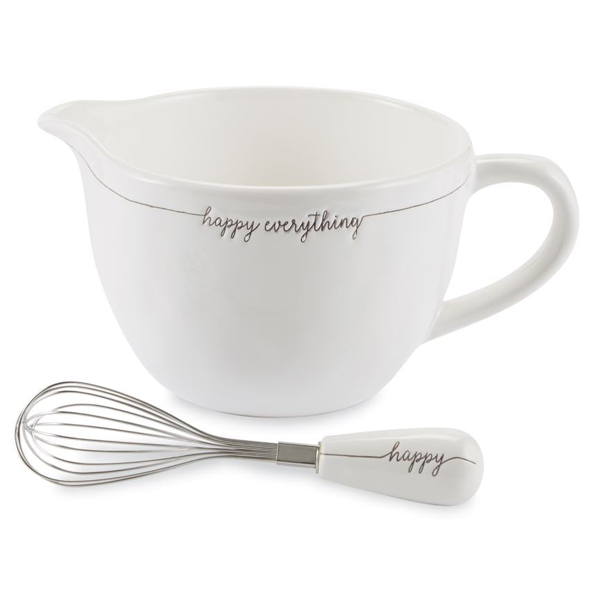 Happy Everything Ceramic Mixing Bowl Set
