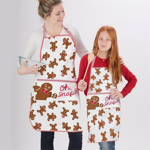 Gingerbread Man adult and child apron set(set)
