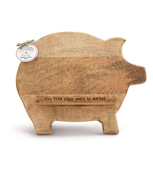 Pig IPad or cookbook holder