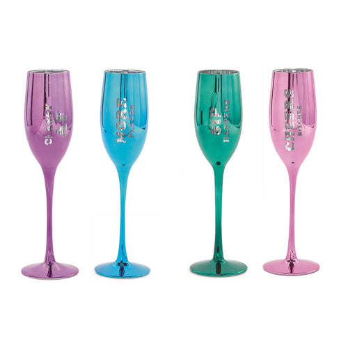 Classy and Sassy Champagne Flutes