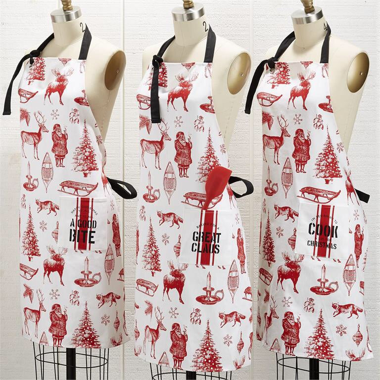 Christmas apron with spatula