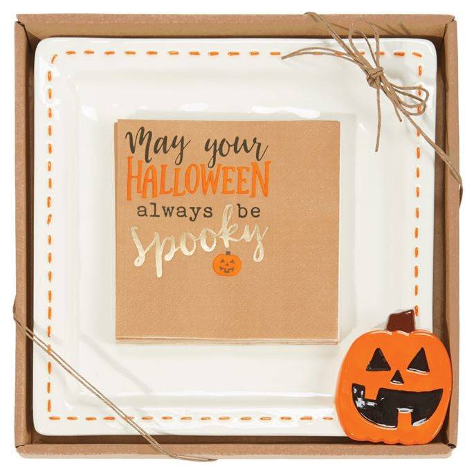 Halloween Cheese Plate and Napkins