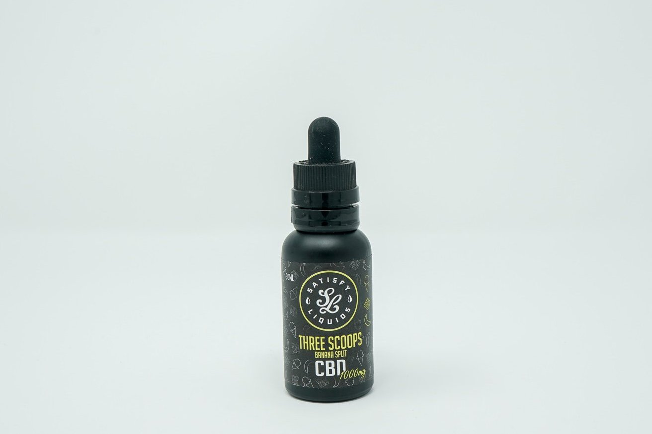 Satisfy Liquids - Three Scoops - CBD Vape Juice - 1000 mg