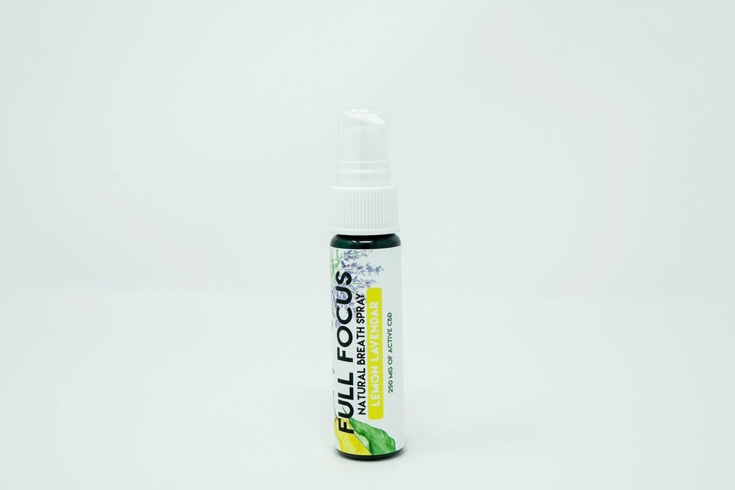 Natural CBD Breath Sprays - Full Focus Lemon Lavender - 250 mg