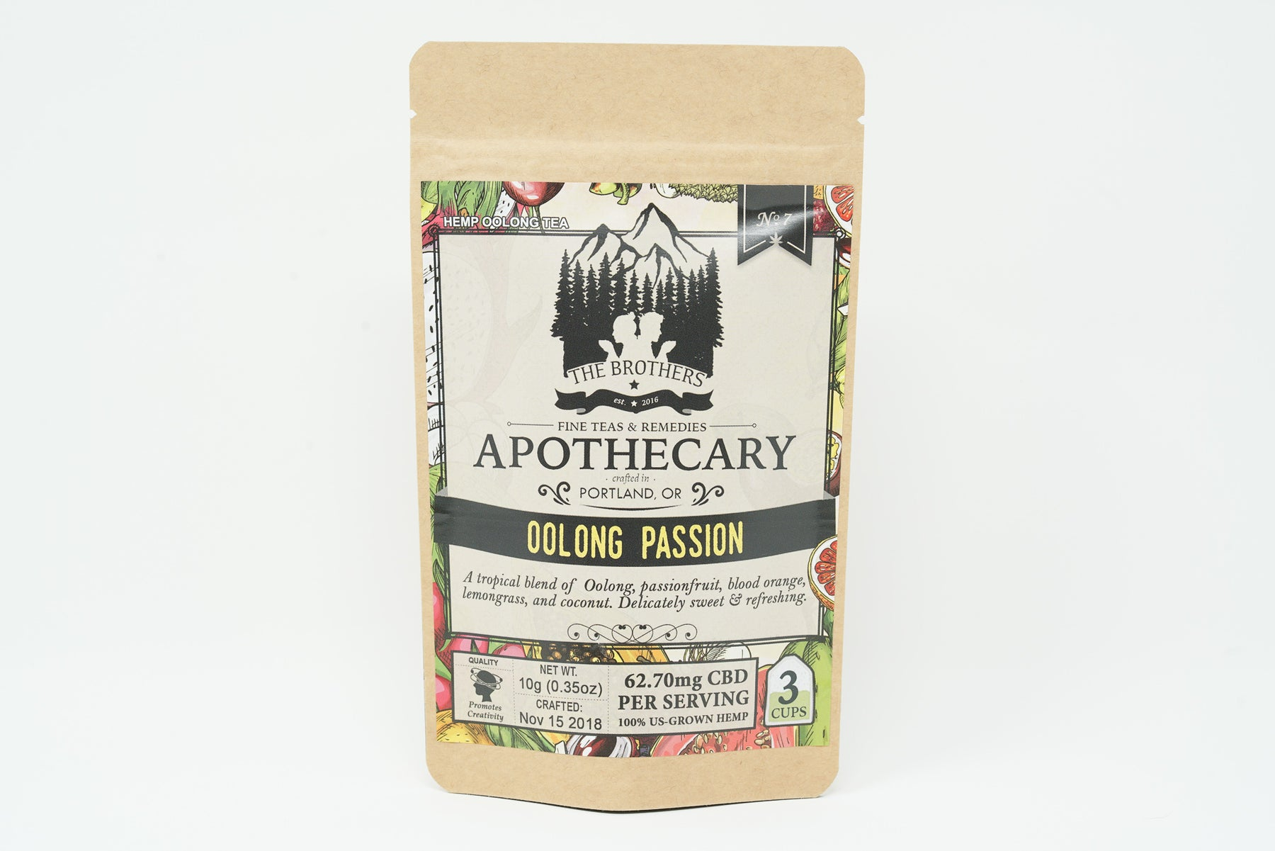 Brothers Apothecary - Oolong Passion Tea - 62.7 mg