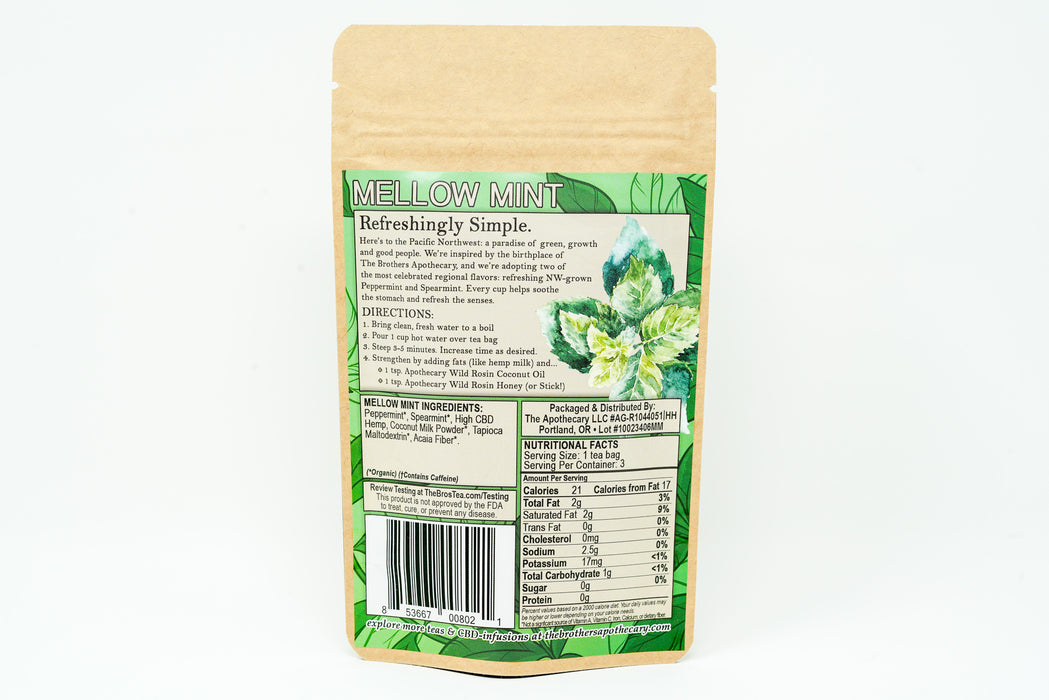 Brothers Apothecary - Mellow Mint Tea - 62.7 mg
