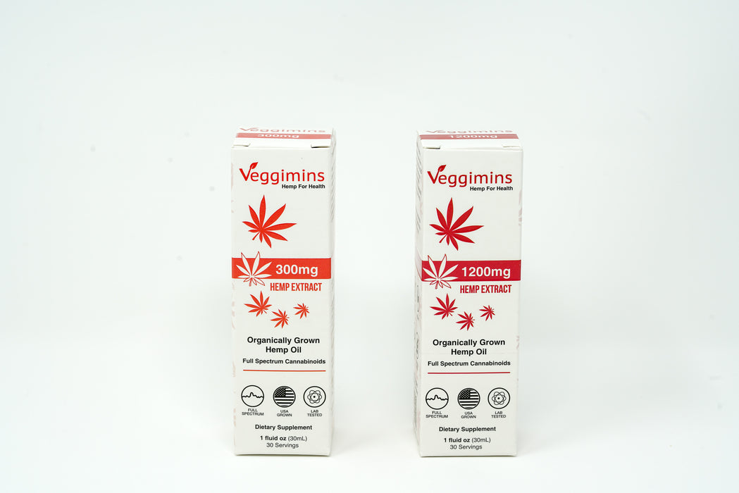 Veggimins - Organic Hemp Oil - 1200 mg