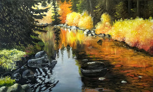 """Antoine Creek 2"" Original oil by Clermont Duval"