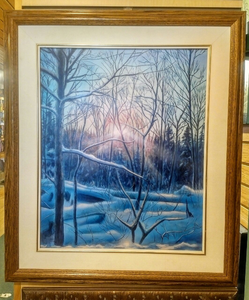 """Beams of Light"" by Costel Duval 18"" X 22"""