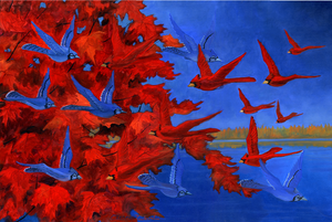 "Blue on Red Red on Blue"" by Clermont Duval"