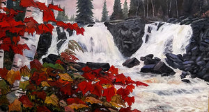 """Stone Face Falls"" Original oil by Clermont Duval"