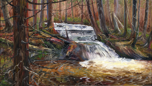 """Rugged Falls"" by Clermont Duval 30"" X 18"""