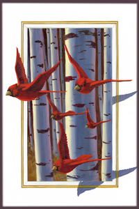 """3D Cardinals"" by Clermont Duval"
