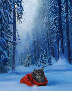 """Red Riding Cat"" by Costel Duval"
