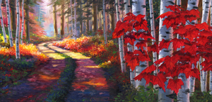 """Pathway of Colours"" by Clermont Duval 46"" X 22"""