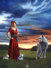 "Load image into Gallery viewer, ""Red Riding Hood Equal Force"" by Costel Duval"