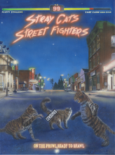 "Load image into Gallery viewer, ""Stray Cat Street Fighters"" by Costel Duval"
